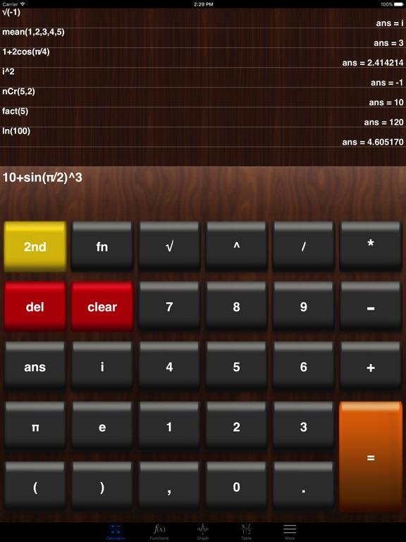 Screenshot #4 pour My Graphing Calculator