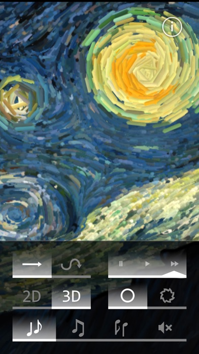 Starry Night Interactive Animation Screenshot