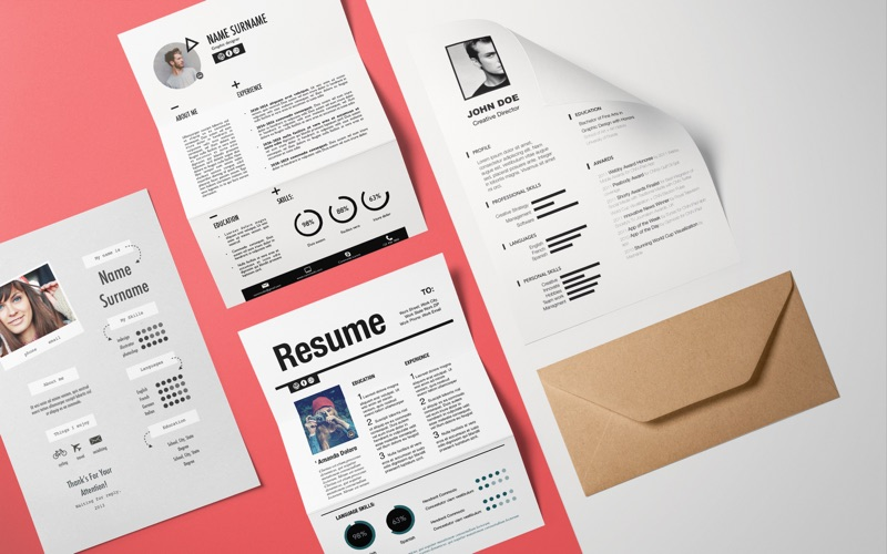 Resume Templates Screenshots