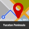 Yucatan Peninsula Offline Map and Travel Trip yucatan peninsula crater