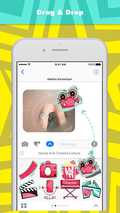 download Movie And Cinema Culture stickers by Ada apps 1