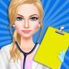 Médico chica estilista de moda