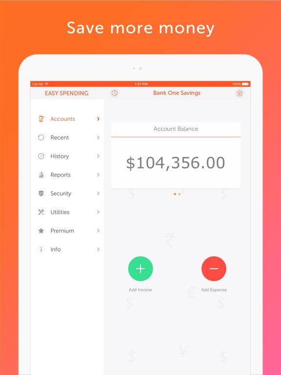 Screenshot #5 for Easy Spending - Money tracker, Budget Planner