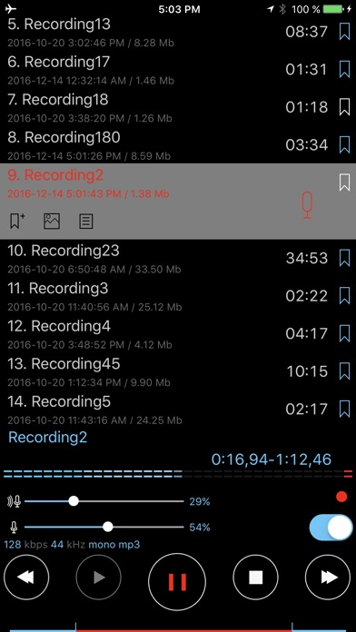ALON Dictaphone - Voice Recorder Screenshots