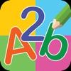 Schreiben des Englischen Alphabets und der Nummer