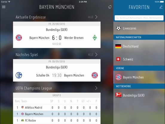 FIFA für iPad Screenshot