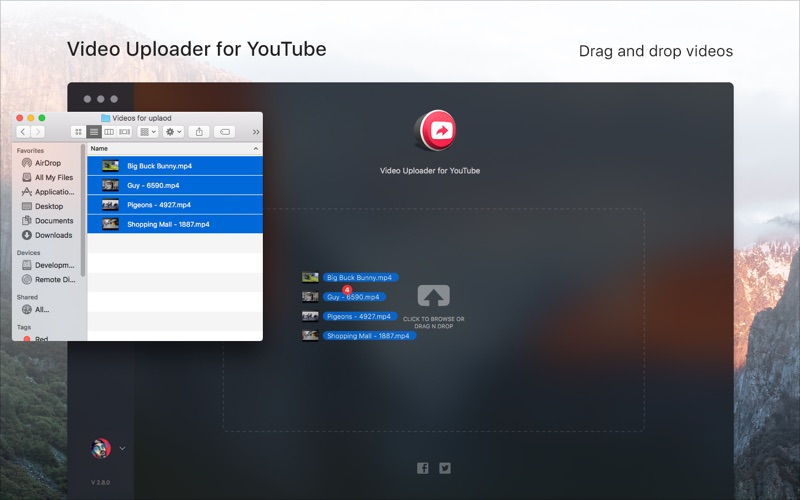 Video Uploader for YouTube Screenshots