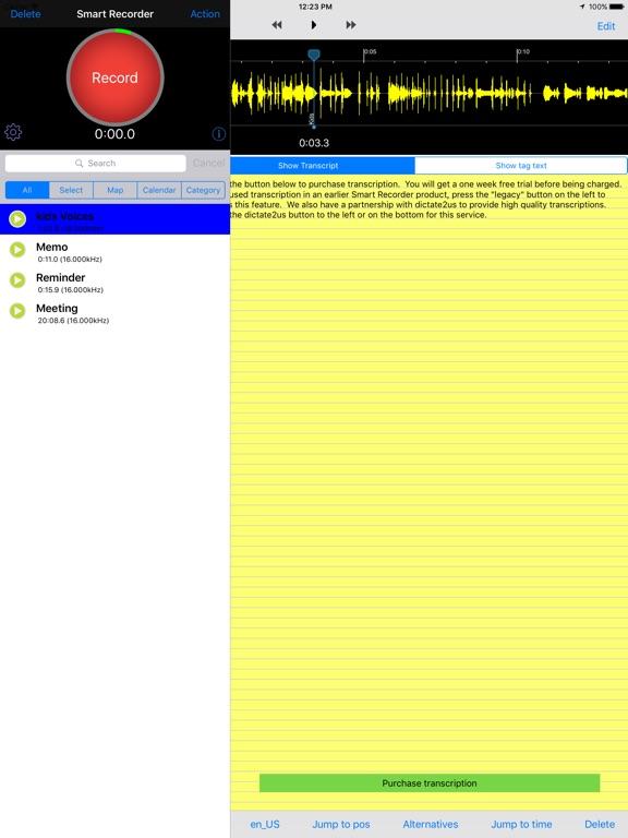 Smart Recorder Transcriber G Screenshots