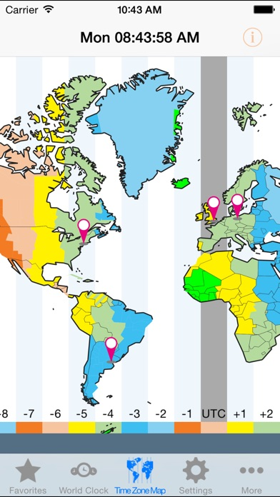 World ClockTime Zones On The App Store - Illinois time zone map