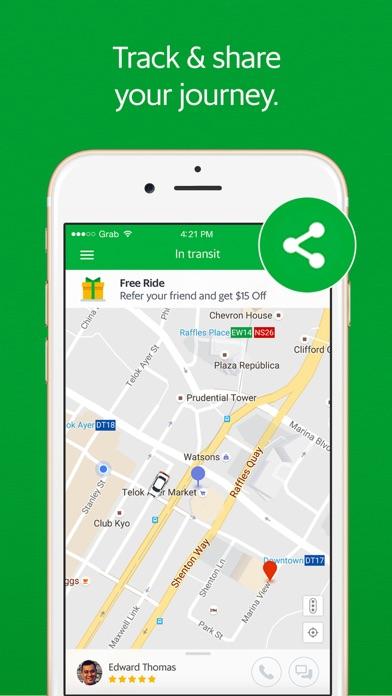 Grab - Ride Hailing App Скриншоты6