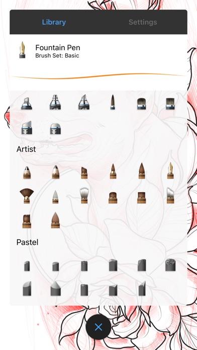 Screenshots of Autodesk SketchBook for iPhone