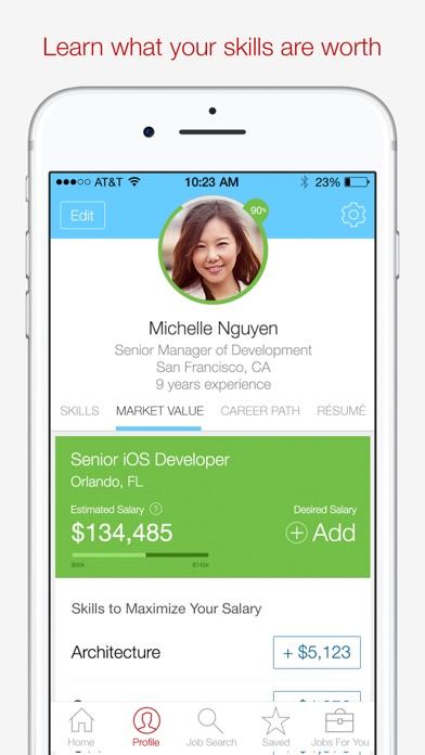 Screenshot 2 for Dice's iPhone app'