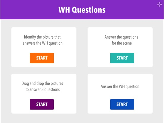 Screenshot #1 for Wh Questions by Teach Speech Apps