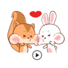 Animated Happy Rabbit and Squirrel Stickers Wiki