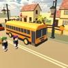 Pick & drop Kids School Bus Offroad Simulator Game