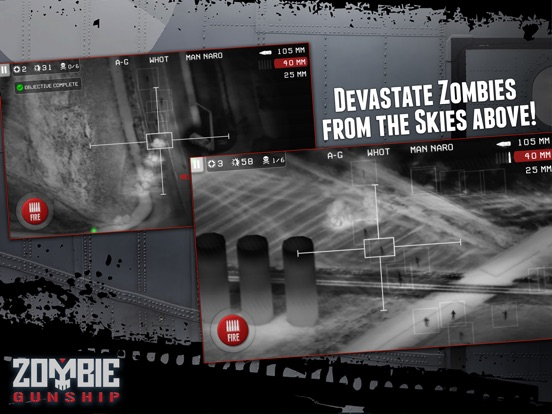 Screenshot #4 for Zombie Gunship: Gun Down Zombies