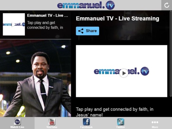 Watch emmanuel tv online free
