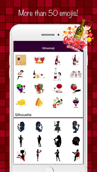 ワインステッカー&絵文字キーボード screenshot1