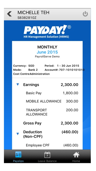 Payday mobile app