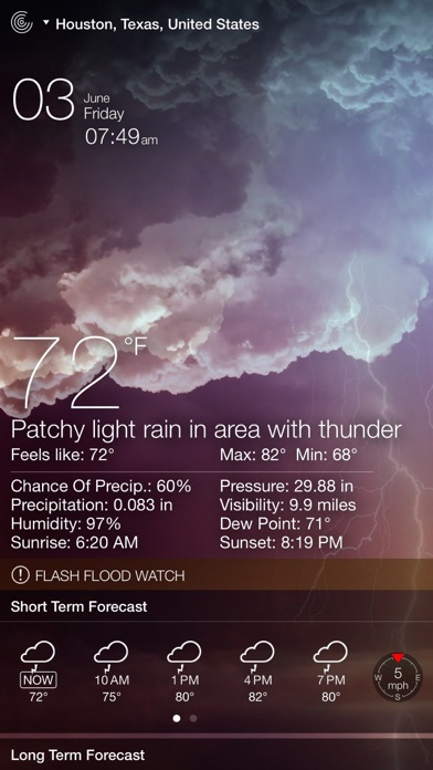 Screenshot #7 for Weather Live - Weather Forecast, Radar and Alerts