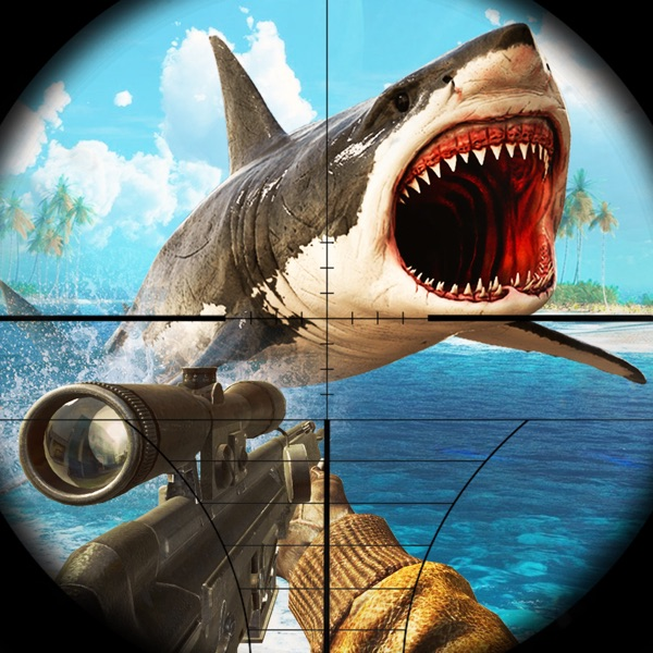 Hungry fish simulator shark spear fishing games 1 0 for Shark fishing games