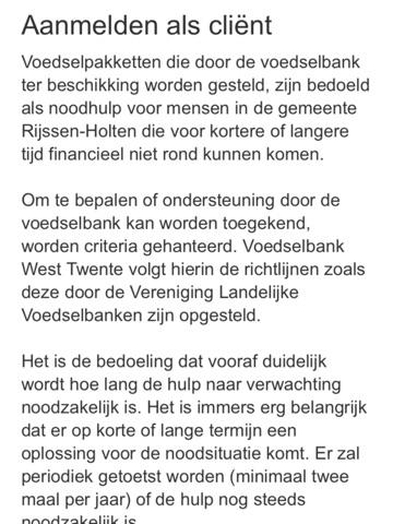 Voedselbank West Twente screenshot 3