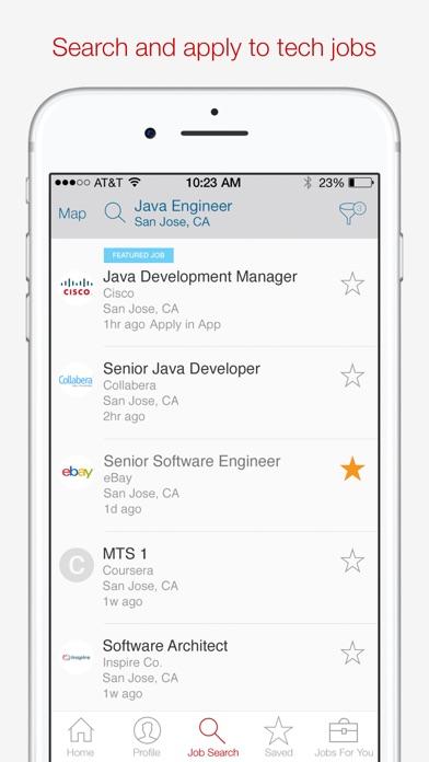 Screenshot 1 for Dice's iPhone app'