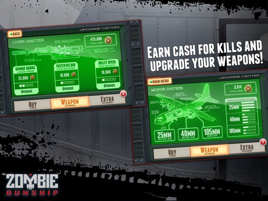 Screenshot #3 for Zombie Gunship: Gun Down Zombies