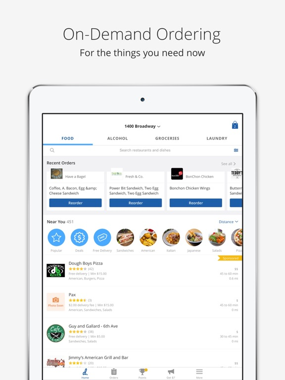 Delivery.com on the App Store