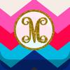 Yellow Lab, Inc. - Monogram Wallpaper DIY Glitter Backgrounds Maker  artwork