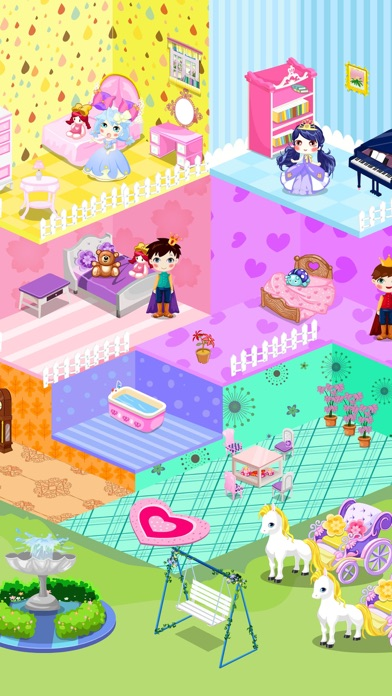 Qute doll house decoration children 39 s room design app for Baby room decoration games free online