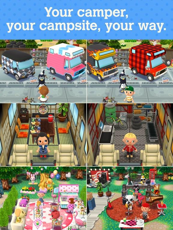 Screenshots of Animal Crossing: Pocket Camp for iPad