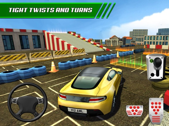 Screenshots of Roof Jumping Stunt Driving Parking Simulator - Real Car Racing Test Sim Run Race Games for iPad