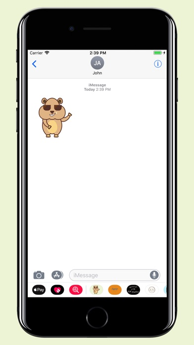 download Hamster - Cute pet stickers apps 1