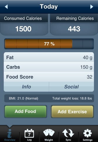 Tap & Track Calorie Counter screenshot 1