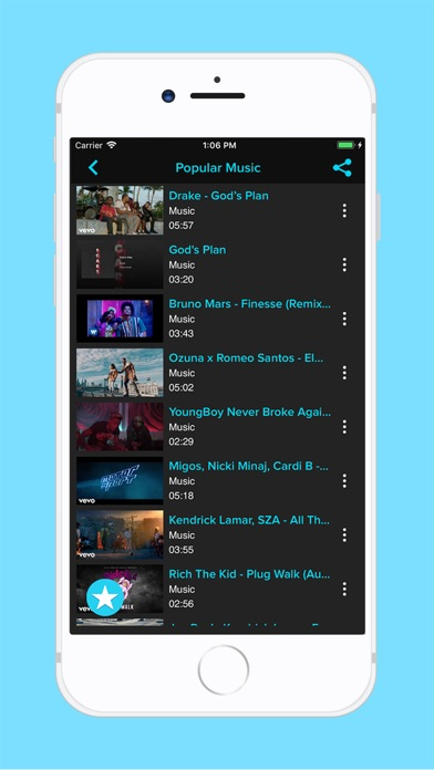 Tubidi - Music Video Player screenshot 3