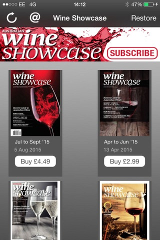 Wine Showcase Magazine screenshot 1