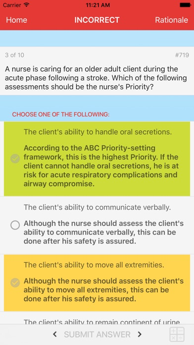 Screenshots of ATI RN Mentor – NCLEX Exam Preparation for iPhone