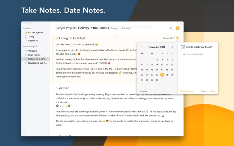 Agenda – A new take on Notes for Mac