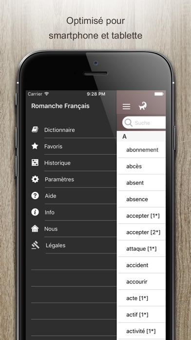 Screenshot for Dictionnaire Romanche Francais in South Africa App Store