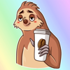download Lazy Sloth! Stickers