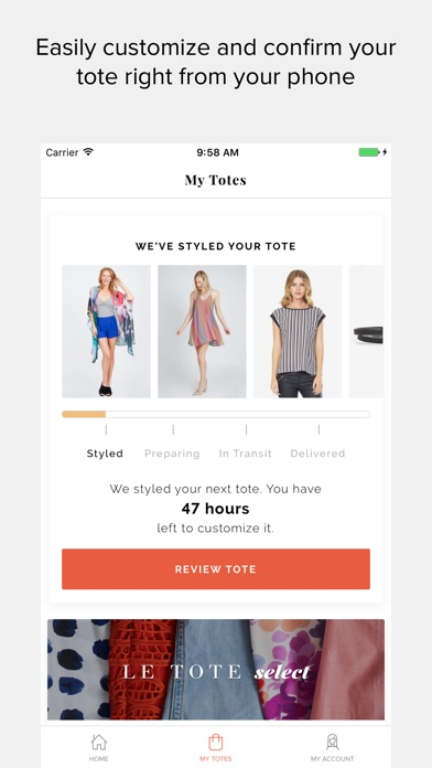 download Le Tote - Fashion for Rent apps 0