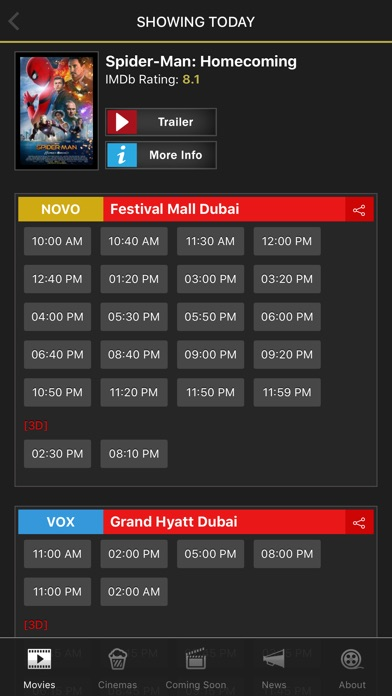 UAE Cinema Showtimes - LiteScreenshot of 2
