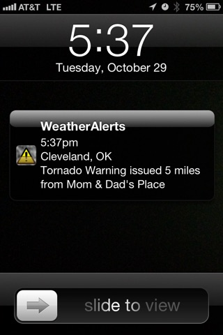 NOAA Weather Alerts screenshot 1