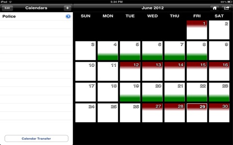 Police Schedule screenshot 1