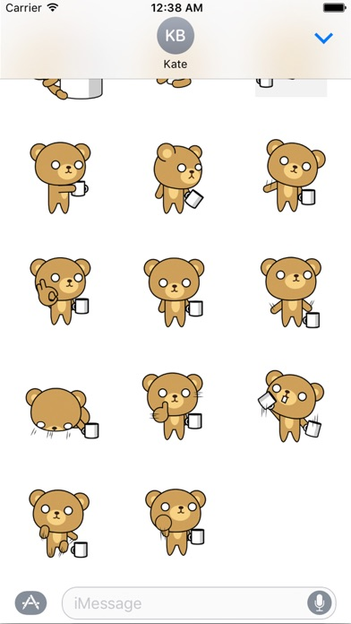 Posh bear Animated Stickers 앱스토어 스크린샷