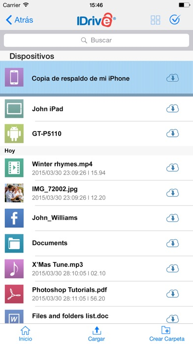 Captura de pantalla de l'iPhone 3