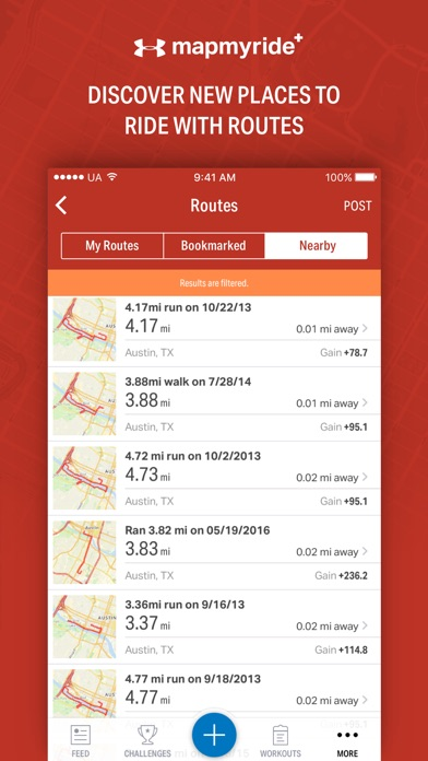Map My Ride+ by Under Armour Screenshots
