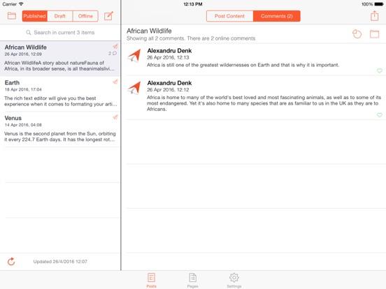 BlogTouch Pro (Blogger.com) Screenshots