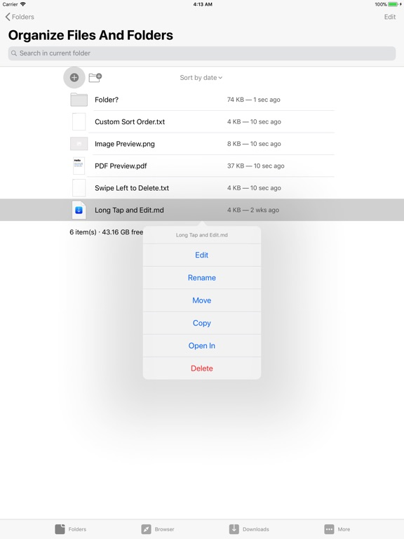 Browser and Documents Plus Screenshots